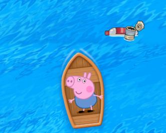 Peppa malac testvére hajókázik