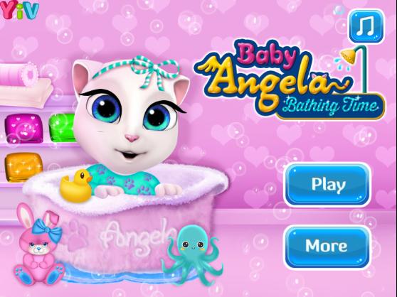 Angela bébi cica fürdetős
