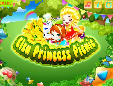 Elsa, Anna és Olaf piknikezik